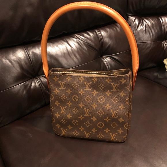 054b92885ed3 Louis Vuitton Handbags - Louis Vuitton Looping Monogram MM Brown 2001